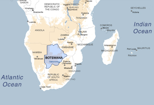 African Safari Botswana: Botswana Africa Map At Infoasik.co
