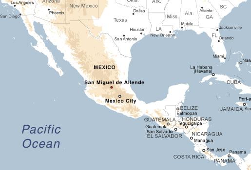 San Miguel de Allende, Mexico on tulancingo mexico map, coba mexico map, mazamitla mexico map, ixtapan de la sal mexico map, torreón mexico map, chilapa mexico map, guanajuato mexico map, tequesquitengo mexico map, san miguel cozumel mexico map, punta chivato mexico map, plaza garibaldi mexico map, colima volcano mexico map, anenecuilco mexico map, valle de bravo mexico map, ayotzinapa mexico map, allende coahuila mexico map, tenayuca mexico map, excellence resorts mexico map, lake cuitzeo mexico map, lagos de moreno mexico map,